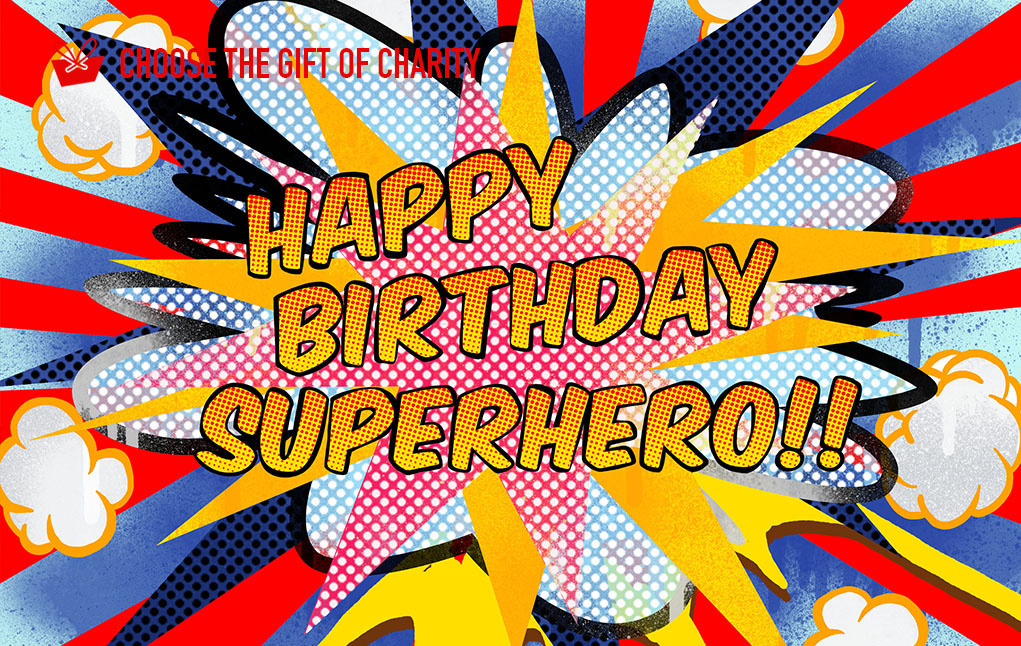 Birthday superhero